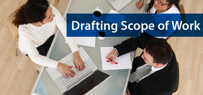 Drafting scope of work