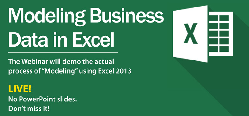 Modeling business data in Excel